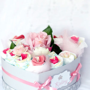 Pelenkatorta, pelenka, pelenkaboksz,rózsaszín